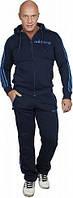 Спортивный костюм Adidas, темно-синий костюм, с голубыми лампасами, ф343
