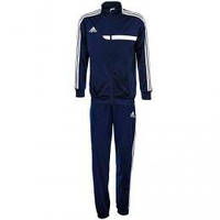 Спортивный костюм Adidas, темно-синий костюм, с лампасами, ф601