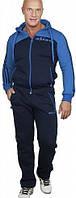 Спортивный костюм Adidas, темно-синий костюм с голубым верхом, с лампасами, ф597