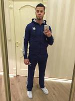 Спортивный костюм Adidas, темно-синий костюм, с лампасами, ф599