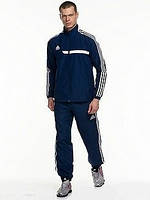 Спортивный костюм Adidas, темно-синий костюм, с лампасами, ф2921