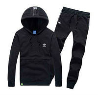 Спортивный костюм Adidas, ченый костюм, с капюшоном, ф2927