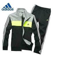 Спортивный костюм Adidas, черная кофта с серым верхом, черные штаны,с лампасами ф2934