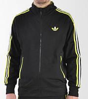 Спортивный костюм Adidas, черный костюм, с жолтыми лампасами ф2940