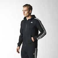 Спортивный костюм Adidas, ченый костюм, с капюшоном, с лампасами, ф2949