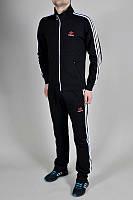 Спортивный костюм Adidas, черный костюм с лампасами, ф2965