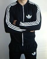 Спортивный костюм Adidas, черный костюм с лампасами, ф2973