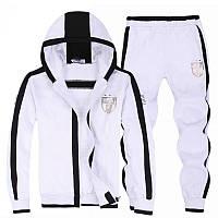 Спортивный костюм Armani, белый костюм, с капюшоном, ф2995