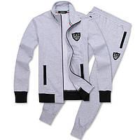Спортивный костюм Armani, светло-серый костюм, ф3006