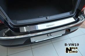 Накладка на задний бампер Volkswagen Passat CC (Nata Niko) без загиба
