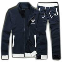 Спортивный костюм Armani, темно-синий костюм, ф3009