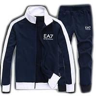 Спортивный костюм Armani, темно-синий костюм, ф3010