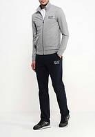 Спортивный костюм Armani, серый верх, черный низ, ф3007