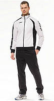 Спортивный костюм Asics, белый верх, черный низ, ф3025