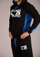 Спортивный костюм Bad Boy, черный с синими вставками, ф3032