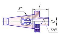 Втулка переходная K30/В24 с хвостовиком 7:24 по MAS403