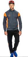 Спортивный костюм Nike, темно-серый, с оранжевыми вставками, ф3065