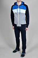 Спортивный костюм Nike, серое туловище, черные штаны, ф3075