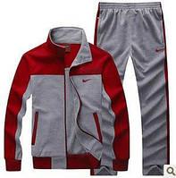 Спортивный костюм Nike, красные рукава, серые штаны и туловище, ф3079