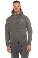 Спортивный костюм Nike темно-серый на змейке, ф3090
