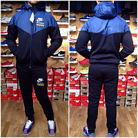 5288de73 Спортивный костюм Nike, плащевка верх, темно-синий хлопок низ, ф3128 ...