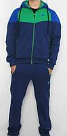Спортивный костюм Nike, темно-синий, с зеленой вставкой, ф3145
