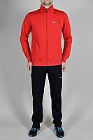 Спортивный костюм Nike, красная кофта со змейкой, черные штаны, ф3152