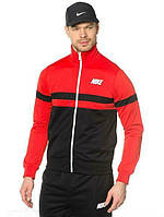 Спортивный костюм Nike, красная кофта со змейкой, черные штаны, ф3153