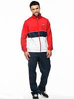 Спортивный костюм Nike, красная кофта со змейкой, черные штаны, ф3155