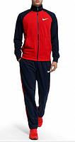 Спортивный костюм Nike, красный с черными штанами и рукавами, ф3159