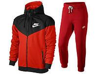 Спортивный костюм Nike, красный с черной вставкой, ф3167