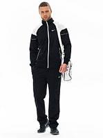 Спортивный костюм Nike черный с белыми вставками на рукавах, ф3181