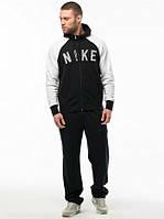 Спортивный костюм Nike, белые рукава, черная кофта и штаны, ф3183