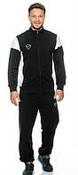 Спортивный костюм Nike черный с белыми вставками на рукавах, ф3182