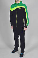 Спортивный костюм Nike, черный с салатовыми и синими вставками, ф3211