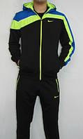 Спортивный костюм найк, черный, с цветными вставками, ф3216