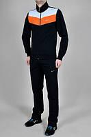 Спортивный костюм Nike, черный с оранжевыми и белыми вставками, ф3213