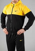 Спортивный костюм найк, черный с желтой вставкой, ф3236