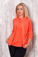 Молодежная блуза с оригинальным кроем воротника