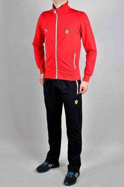 Спортивный костюм Puma, красная кофта, черные штаны, ф3249, цена 899 ... e79a4b35a94