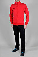 Спортивный костюм Puma, красная кофта, черные штаны, ф3250