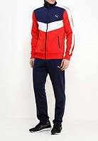 Спортивный костюм Puma, черные штаны, красная кофта с черными вставками, ф3251