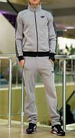 Спортивный костюм Adidas, серый со змейкой, ф3267
