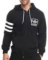 Спортивный костюм Adidas, черный с белыми вставками, ф3280