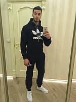 Спортивный костюм Adidas, черный, индонезия, логотип вышит, ф3285