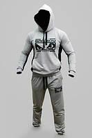 Спортивный костюм Bad Boy, серый, хлопковый, кенгуру, ф3293