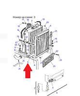 Радиатор трансмиссии 875001147 для Komatsu WB93R-2