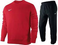 Спортивный костюм найк, красная кофта, черные штаны, ф3337