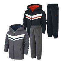 Спортивный костюм найк, серый и черный, кенгуру, ф3346