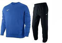 Спортивный костюм Nike, синяя кофта, черные штаны, ф3379